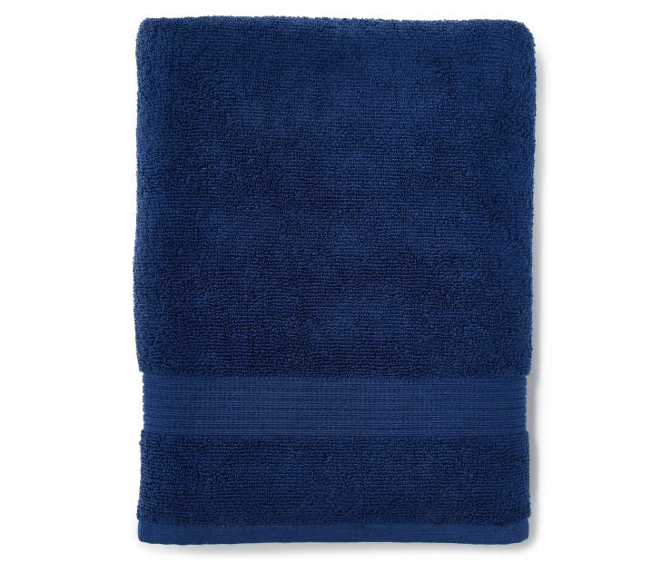 Navy Blue Just Home Bath Towel Folded Silo Image