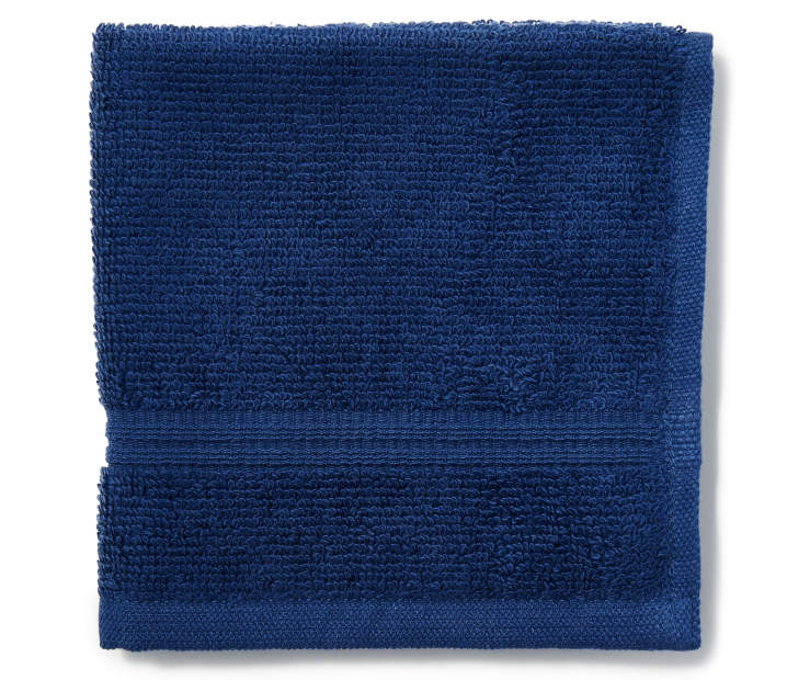 Navy Blue Just Home Wash Cloth Folded Silo Image