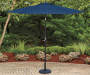Navy Blue Market Patio Umbrella 9 feet Lifestyle