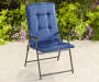 Navy Blue Oversized Padded Folding Chair Lifestyle Outdoors