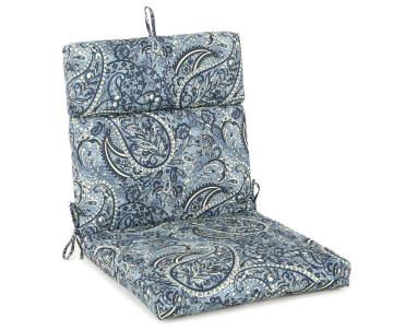 Navy Blue Paisley Outdoor Chair Cushion Big Lots
