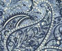 Navy Blue Paisley Outdoor Chaise Cushion Swatch