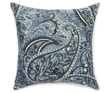 Navy Blue Paisley Outdoor Throw Pillow 16 X 16 Big Lots