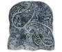 Navy Blue Paisley Outdoor Wicker Chair Cushion Silo Image Overhead View