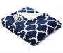 Navy Blue Quatrefoil Reversible Sherpa Electric Throw silo front