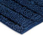 Navy Blue Shimmer Stripe Chenille Bath Rug Set  2 Pack SIlo image Corner Angled View