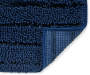 Navy Blue Shimmer Stripe Chenille Bath Rug Set 2 Pack Silo Corner Detail