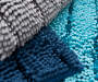 Navy Blue Shimmer Stripe Chenille Bath Rug Set 2 Pack Texture Detail