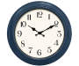 Navy Blue Wall Clock 16 inches Silo Image