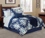 Navy Ikat Teardrop 12-Piece Queen Comforter Set Lifestyle Image