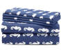 Navy Seahorse 6 Piece King Sheet Set silo front