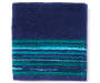 Navy and Green Stripes Mirage Wash Cloth silo front