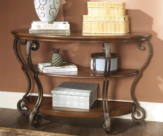 Signature Design By Ashley Nestor Brown Console Table Big Lots