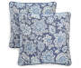 Newport Navy Outdoor Square Throw Pillow 2 Pack