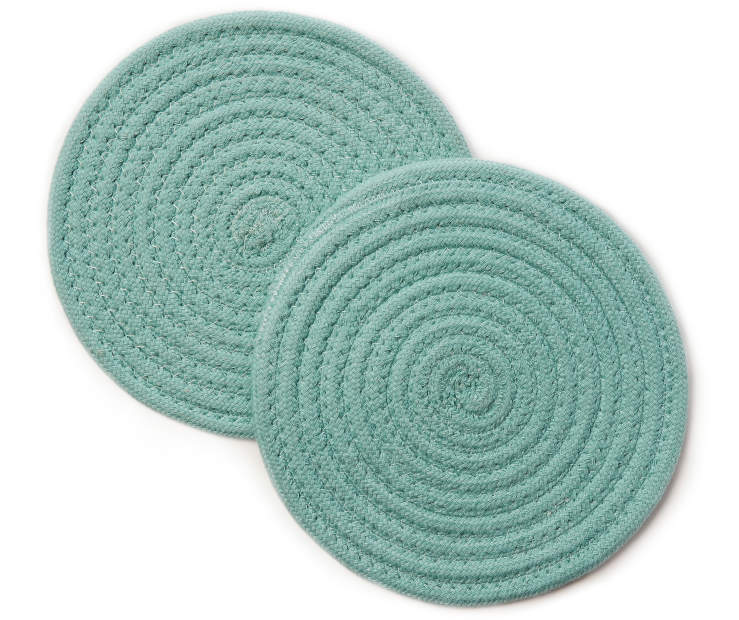 Nile Blue Trivets  2 Pack silo front