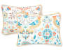 Nina Multi Color Birds King 5 Piece Quilt Set silo front pillow