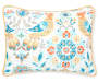 Nina Multi Color Birds Twin 4 Piece Quilt Set silo front pillow