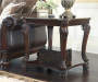 Norcastle Dark Brown End Table lifestyle living room