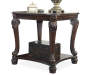 Norcastle Dark Brown End Table silo front