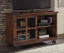 Norlandon Brown Industrial Console Table lifestyle living room