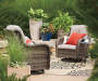 OAKMONT 3PC ALL WEATHER WICKER GLIDER SET