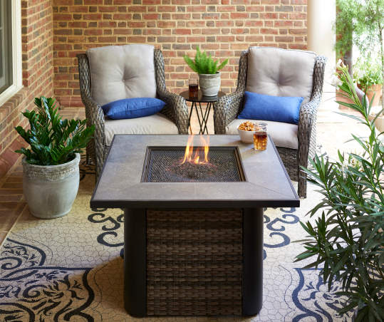Wilson Fisher Oakmont Tile Fire Pit Table 38 X 38 Big Lots