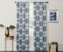 Olina Aqua Medallion Room-Darkening Single Curtain Panel 63 inches Lifestyle