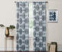 Olina Aqua Medallion Room-Darkening Single Curtain Panel 84 inches Lifestyle