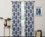 Olina Navy Medallion Room-Darkening Single Curtain Panel 95 inches Lifestyle