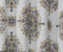 Olina Yellow & Gray Medallion Room-Darkening Single Curtain Panel 63 inches Swatch