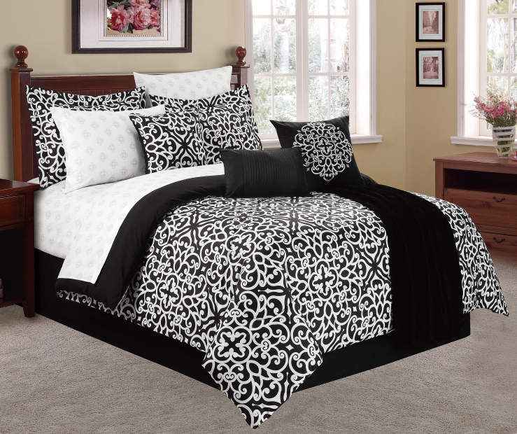 Olivia 12 Piece King Bed In A Bag on Bed Room View