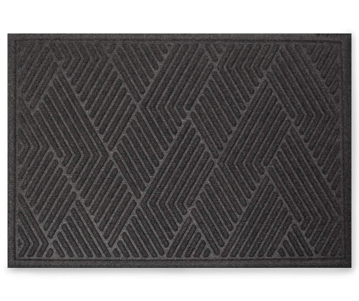 Onyx Vanguard Textured Pattern Doormat 18 Inches by 24 Inches