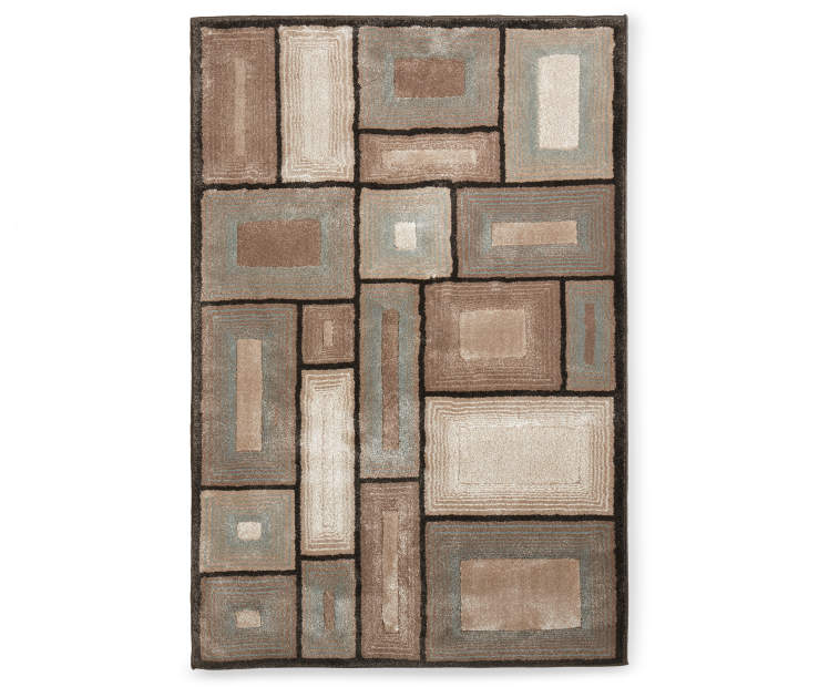 Opulent Collection Area Rug 5 Feet by 7 Feet Overhead View Silo Image