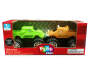 Orange and Green Monster Masher Powered Trucks 2-Pack SIlo In Package