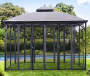 Original Manufacturer Sunjoy Replacement Mosquito Netting For SOMERSET GAZEBO 10x12 FT Original Version