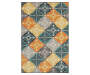 Owen Multi-Color Area Rug 5 Feet 3 Inches by 7 Feet 6 Inches Overhead View Silo Image