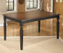 Owingsville Black and Brown Dining Table lifestyle living room