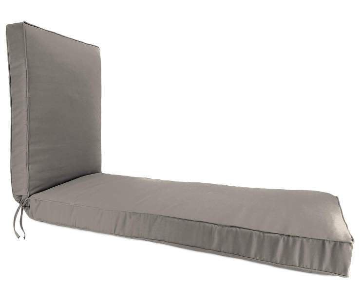 Oyster Tan Box Edge Chaise Cushion silo front