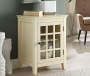 PALE YELLOW SINGLE DOOR CABINET
