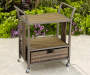 PALERMO ALL WEATHER WICKER BEVERAGE CART