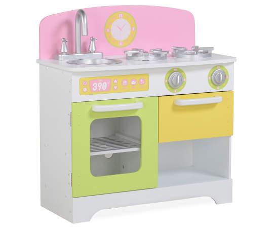 Pink Yellow Pastel Play Kitchen Stove Refrigerator Set Big Lots