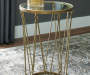 PHILLMONT GOLD ACCENT TABLE