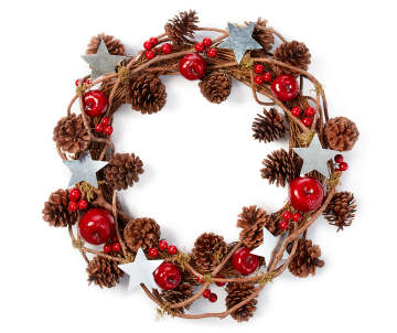 non combo product selling price 240 original price 240 list price 240 - Red Christmas Wreath