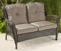 PINEHURST ALL WEATHER WICKER TWO SEATER SOFA WITH CUSHIONS