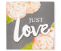 PR JUST LOVE FLORAL BOX PLAQUE