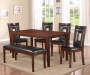 Padded 6-Piece Dining Set Room View