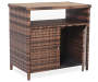 Palermo All Weather Wicker Sideboard silo angled