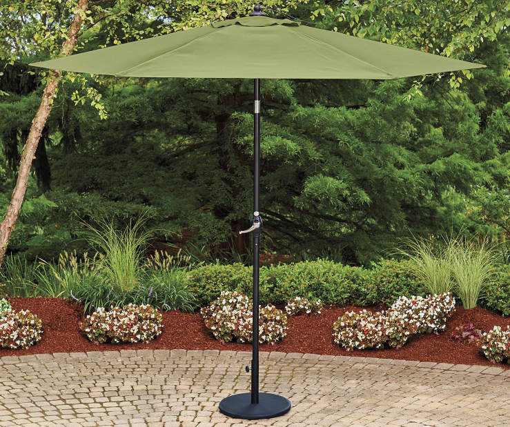 Palm Green Market Patio Umbrella 9ft lifestyle