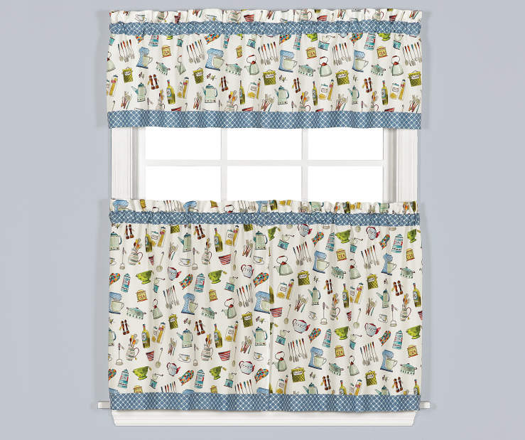 Pantry Aplenty Tier and Valance 3 Piece Set On Window Lifestyle Image