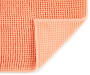 Papaya Punch Textured Bath Rug, 20 by 34 Silo Image Close Up Corner Folded